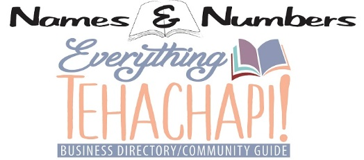 Names and Numbers - Everything Tehachapi!